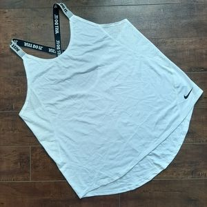 Nike Elastika Dri-Fit White Tank Top Size XL